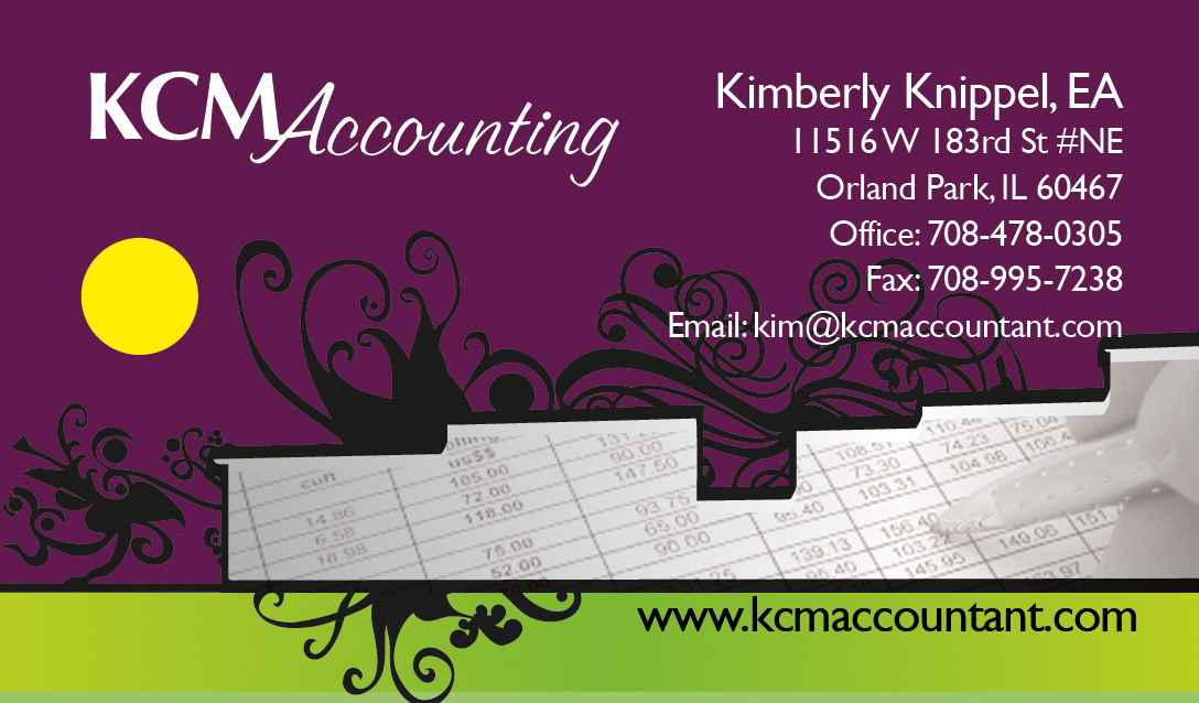 accounting business card design