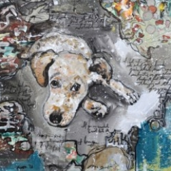 Linus Dog Portrait Painting