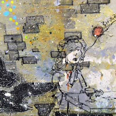 Be There / Something Happened Painting